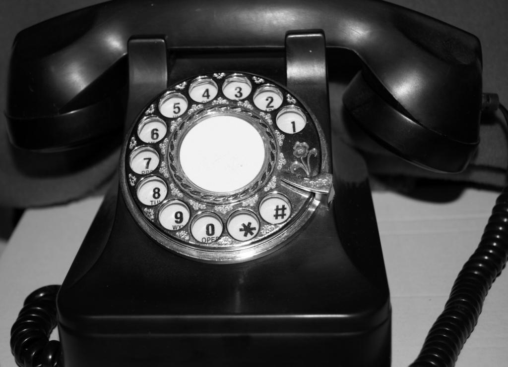 Telefon schwarz weiß